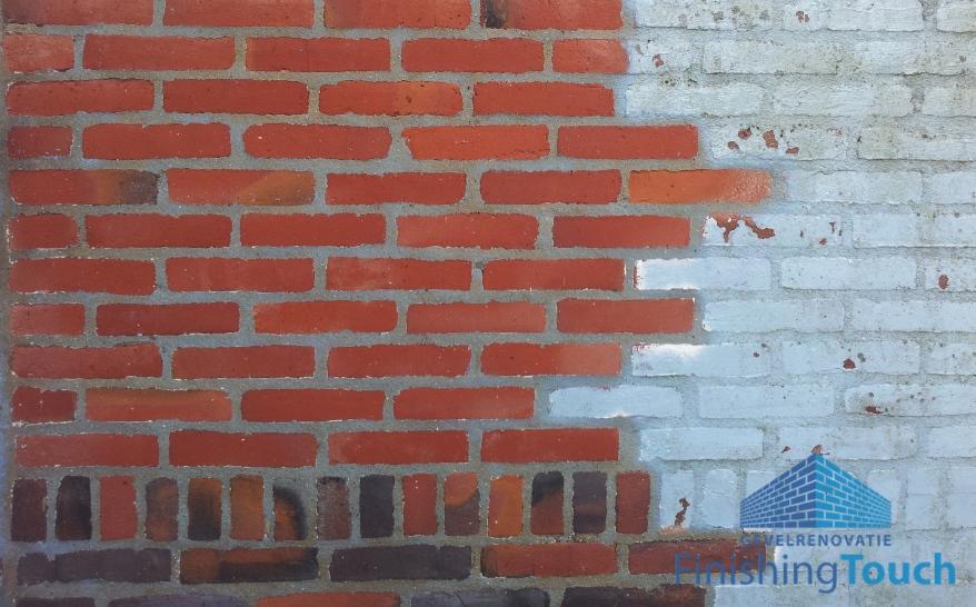 Verf verwijderen van de buitengevel - muur - gevel - gevelreiniging